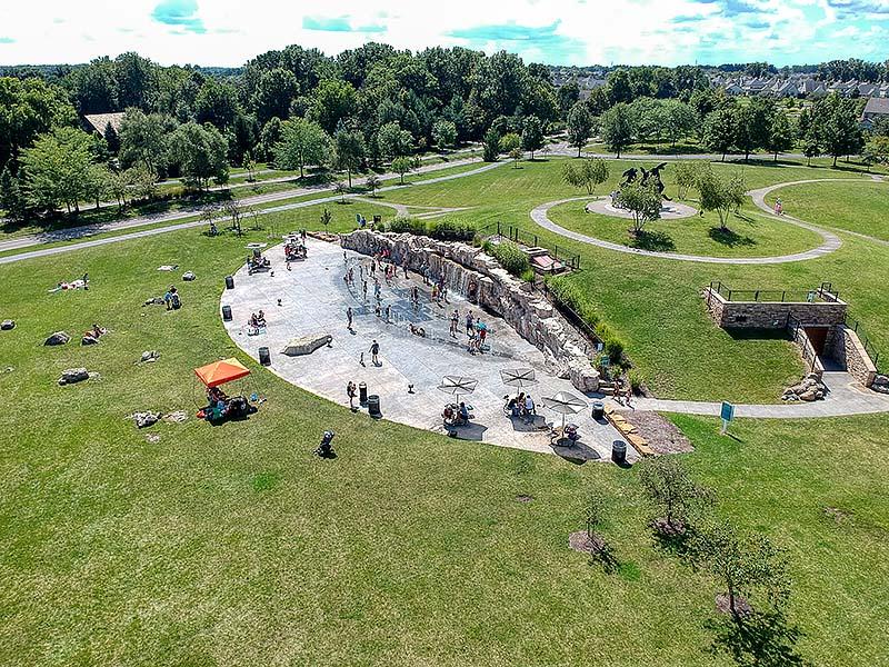 Spray Park, Dublin, Ohio, USA
