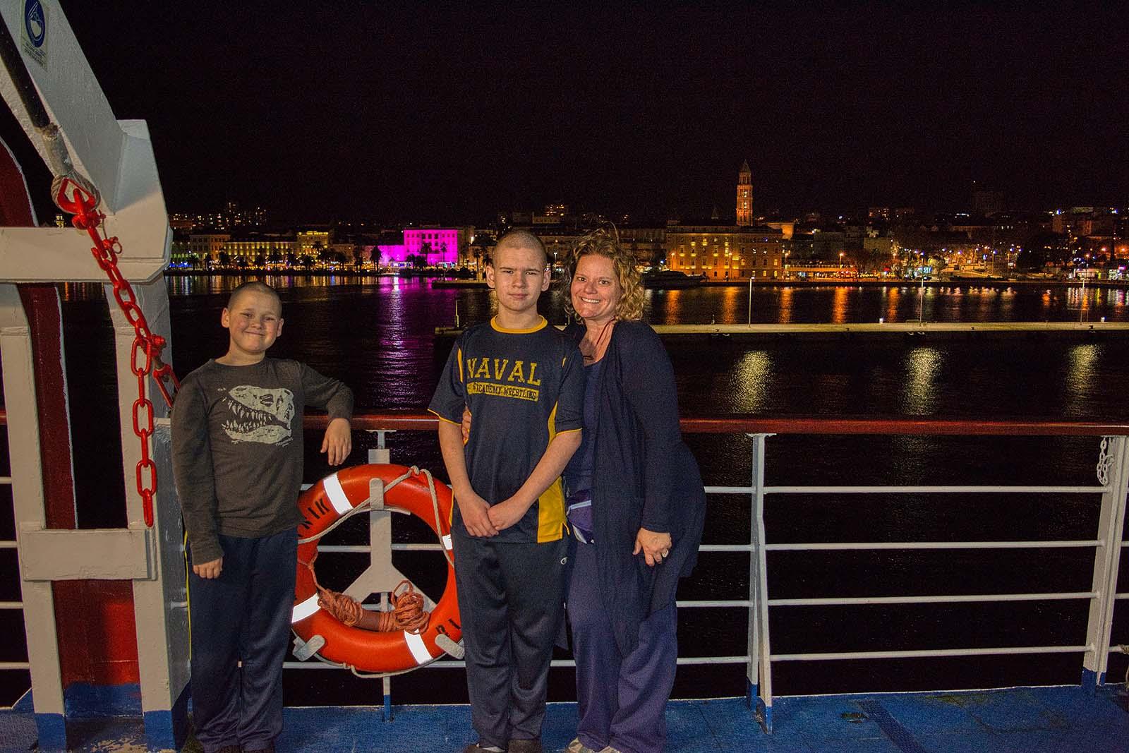 Ferry across the Adriatic Sea